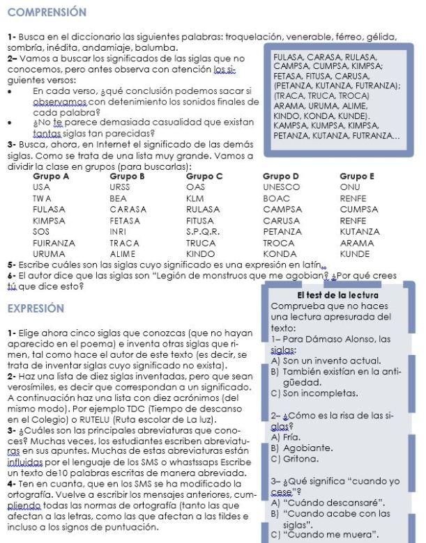 ejercicios sobre siglas y acronimos