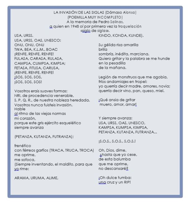 poema de acronimos y siglas